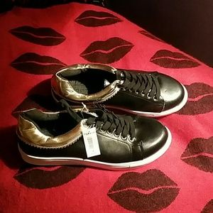 Torrid new black gold sneakers 9